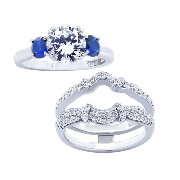 Jcpenney Gift Registry Wedding: Diamonart Womens Cubic Zirconia & Simulated Blue Sapphire