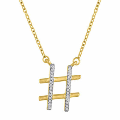 Womens Diamond Accent Genuine White Diamond Pendant Necklace