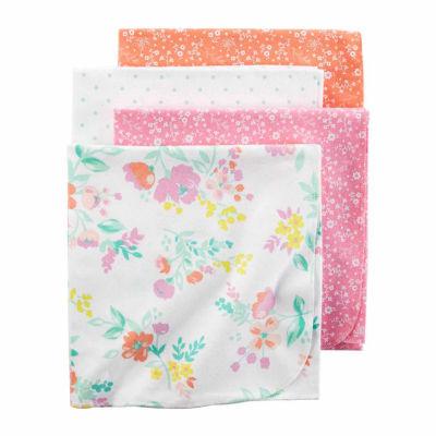 Carter's Girl Pink Floral 4pk Blankets