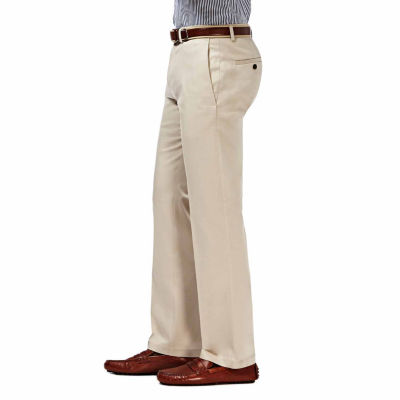 Haggar® Premium No Iron Straight-Fit Flat-Front Khakis