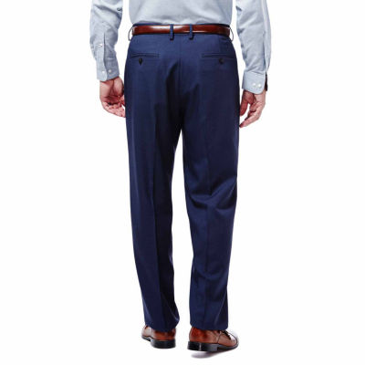 Haggar® Expandomatic Stretch Classic-Fit Flat-Front Pants