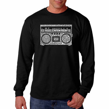 Los Angeles Pop Art Long Sleeve Greatest Rap Hitsof the 1980's Word Art T-Shirt
