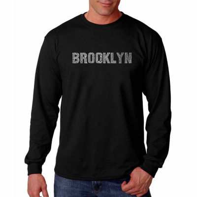 Los Angeles Pop Art Long Sleeve Brooklyn Neighborhoods Word Art T-Shirt