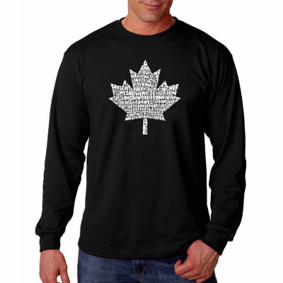 Los Angeles Pop Art Long Sleeve Canadian NationalAnthem Word Art T-Shirt