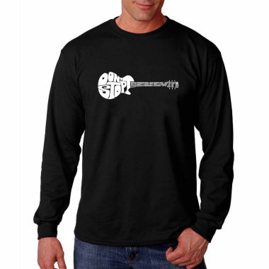 Los Angeles Pop Art Long Sleeve Don'T Stop Believin' Word Art T-Shirt