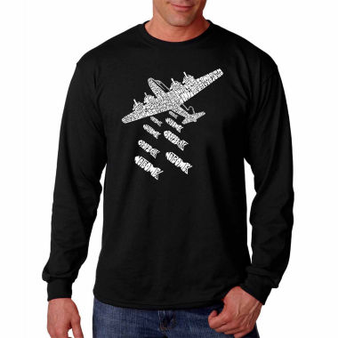 Los Angeles Pop Art Long Sleeve Drop Beats Not Bombs Word Art T-Shirt