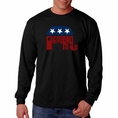 Los Angeles Pop Art Long Sleeve Grand Old Party Word Art T-Shirt
