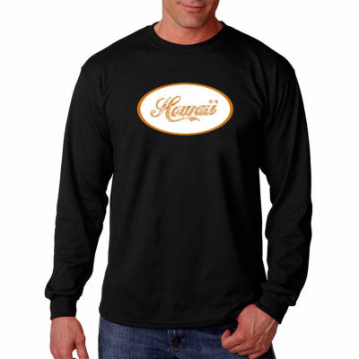 Hawaiian Island Names And Imagery Long Sleeve T-Shirt