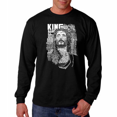 Los Angeles Pop Art Long Sleeve Jesus Word Art T-Shirt