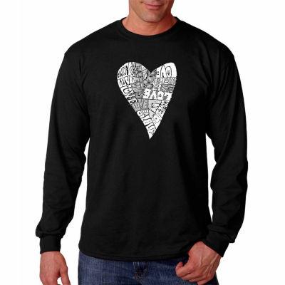 Lots Of Love Long Sleeve Mens Word Art T-Shirt