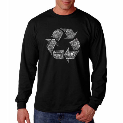 Los Angeles Pop Art Long Sleeve 86 Recyclable Products Word Art T-Shirt
