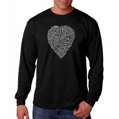 Los Angeles Pop Art Long Sleeve William Shakespeare's Sonnet 18 Word Art T-Shirt