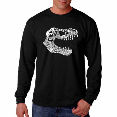 Los Angeles Pop Art Long Sleeve Trex Word Art T-Shirt