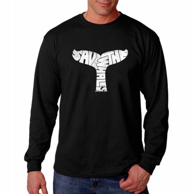 Los Angeles Pop Art Long Sleeve Save the Whales Word Art T-Shirt