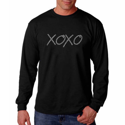 Los Angeles Pop Art Long Sleeve Xoxo Word Art T-Shirt