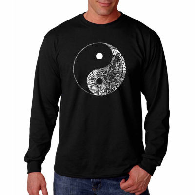 Los Angeles Pop Art Long Sleeve Yin Yang Word ArtT-Shirt