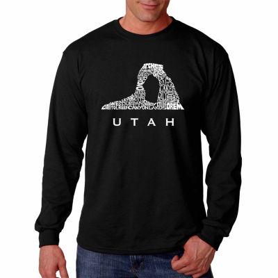 Los Angeles Pop Art Long Sleeve Utah  Word Art T-Shirt
