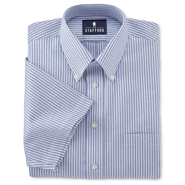 Stafford Easy Care Short Sleeve Oxford Dress Shirt