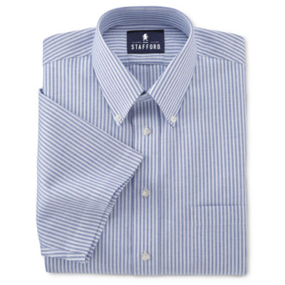stafford easy care short sleeve oxford dress shirt5792683 Jcpenney Stafford Shirt Size Chart #6