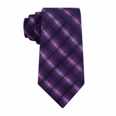 Van Heusen Chrome Grid Slim Tie
