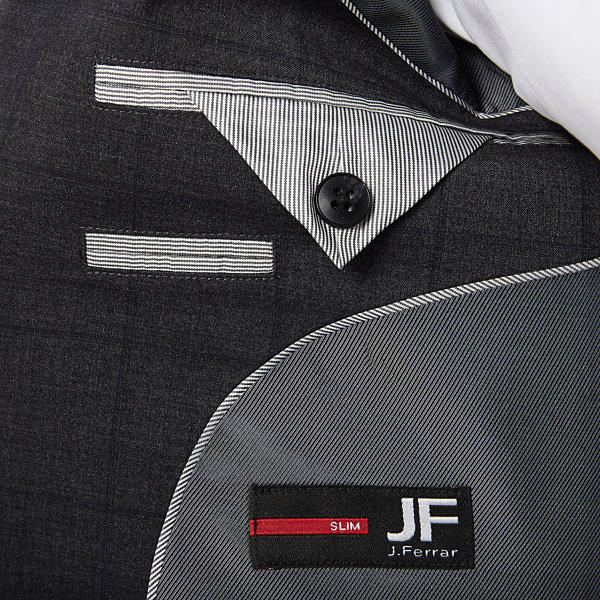 JF J.Ferrar Plaid Slim Fit Stretch Suit Jacket