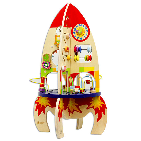 Classic Toy Wooden Multi-Activity Rocket Playset