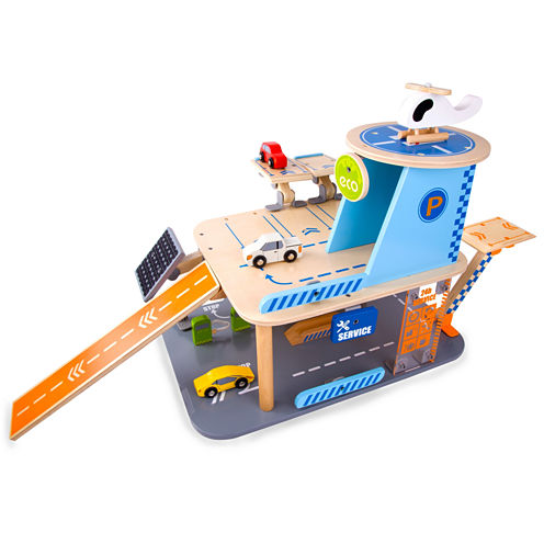 Wood Green Garage 4-Pc. Toy Playset - Unisex