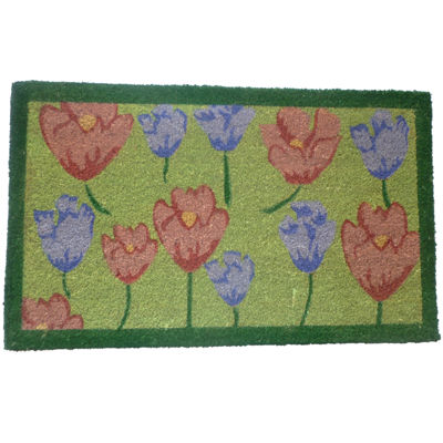 "Tulips Rectangle Doormat - 18""X30"""