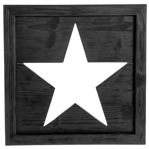 Square With Star Cutout Wall Decor
