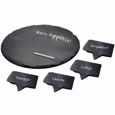 Epicureanist Slate 5-pc. Cheese Board Set
