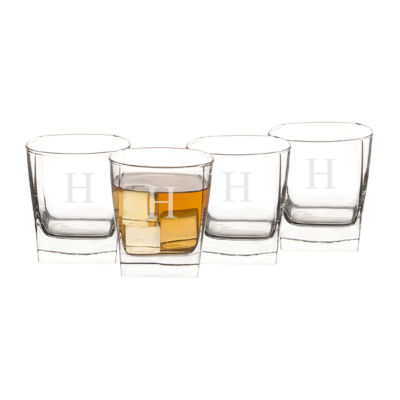 Cathy's Concepts Rocks Set of 4 Personalized Glasses
