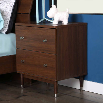 Olly Mid-Century Modern 2-Drawer Nightstand