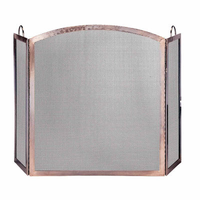 Blue Rhino 3 Panel Antique Copper Fireplace Screen