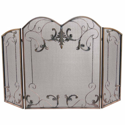 Blue Rhino 3 Panel Venetian Bronze Fireplace Screen