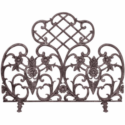 Single Panel Bronze Cast Fireplace Screen
