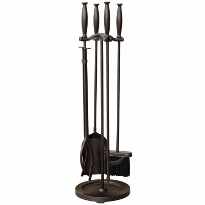 Blue Rhino Bronze Fireplace Tool Set