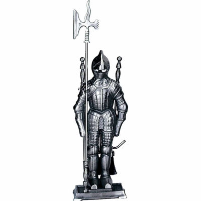 Mini Pewter Soldier Fireplace Tool Set