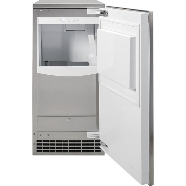 "GE® 15"" Stainless Steel Nugget Ice Maker"