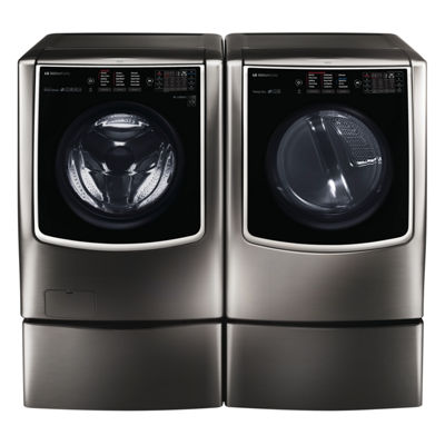 LG SIGNATURE 9.0 cu. ft. Smart Wi-Fi Enabled Gas Dryer with TurboSteam™