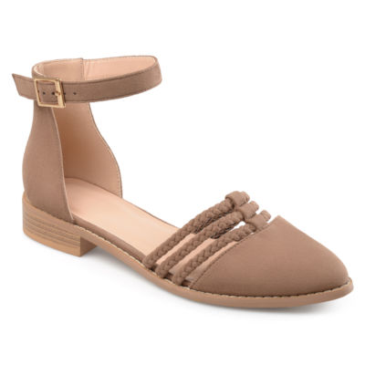 Journee Collection Anistn Womens Slip-On Shoes Buckle Pointed Toe