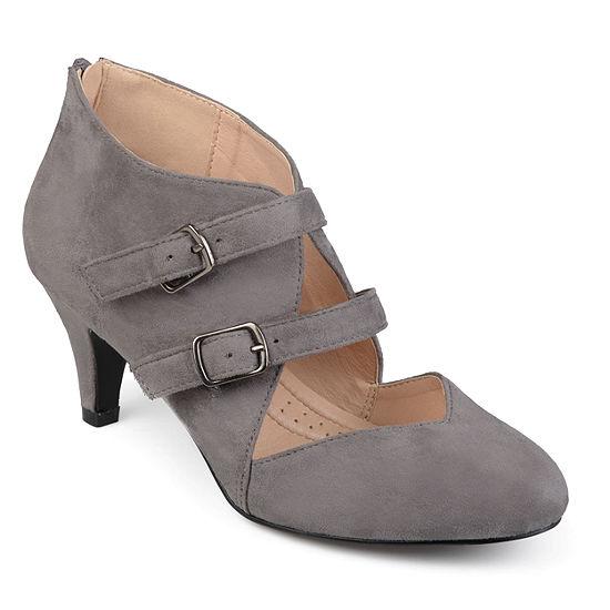 Journee Collection Womens Ohara Pumps Zip Round Toe Stiletto Heel