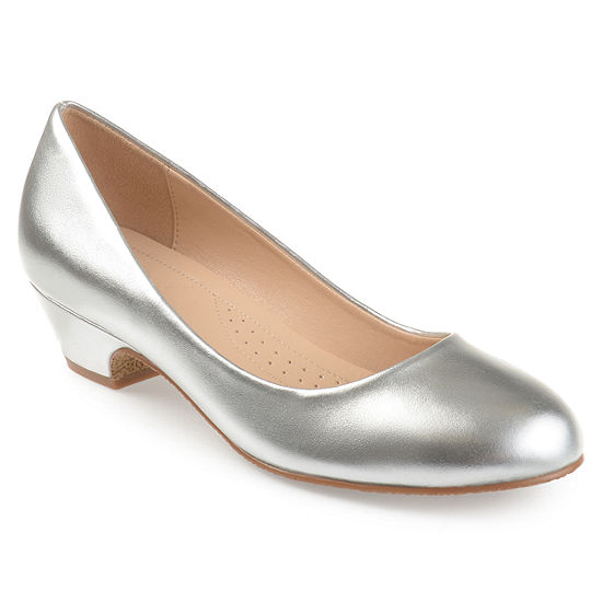 Journee Collection Womens Saar Pumps Slip-on Peep Toe Block Heel
