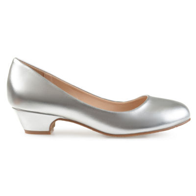 Journee Collection Saar Womens Pumps Slip-on Peep Toe Block Heel