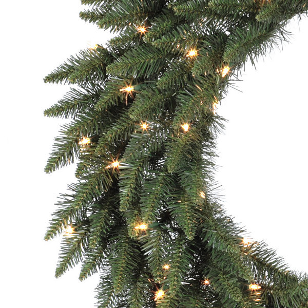 "Vickerman 24"" Camdon Fir Christmas Wreath with 50Warm White LED Lights"""