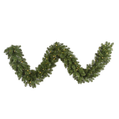 Vickerman 25' Grand Teton Christmas Garland with 300 Warm White LED Lights