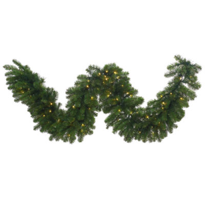 Vickerman 25' Grand Teton Christmas Garland with 400 Warm White Lights