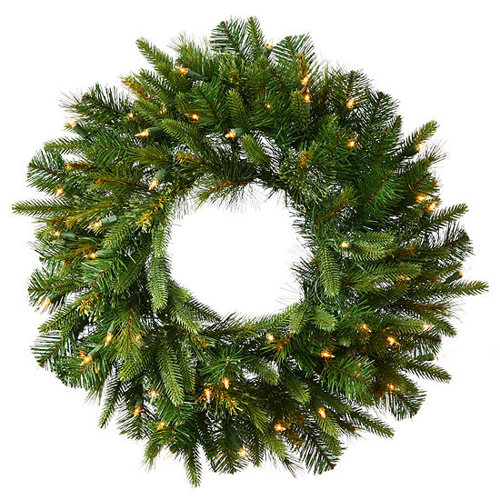 "Vickerman 36"" Cashmere Christmas Wreath with 100 Warm White LED Lights"""