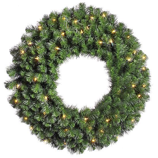 "Vickerman 42"" Douglas Fir Christmas Wreath with 100 Clear Lights"""