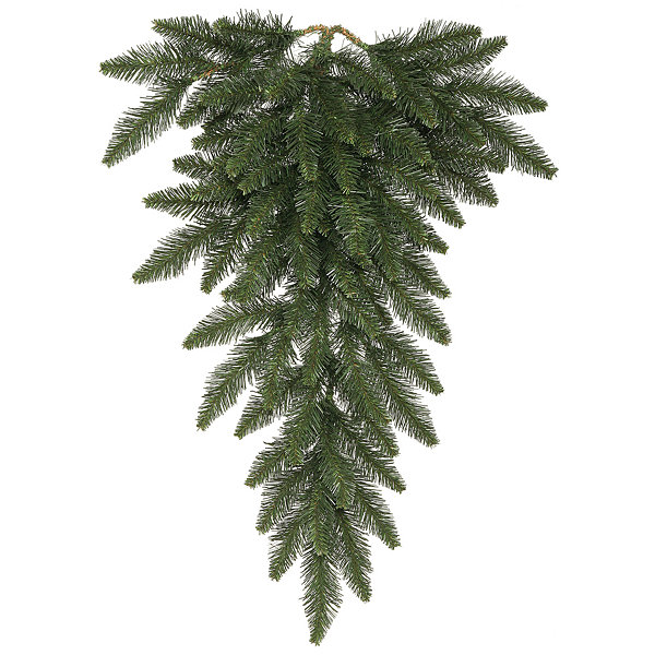 "Vickerman 48"" Camdon Fir Christmas Teardrop with 100 Warm White LED Lights"""