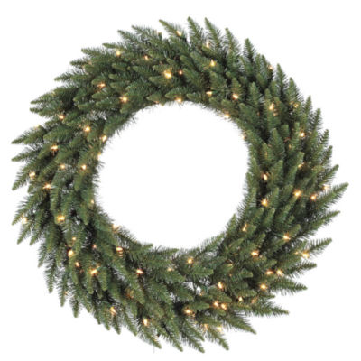 "Vickerman 48"" Camdon Fir Christmas Wreath with 200Warm White LED Lights"""